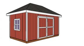 10×16 Shed with Hip Roof Plan