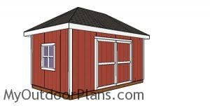 10x16 hip roof shed plans