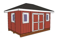12×16 Shed with Hip Roof Plans