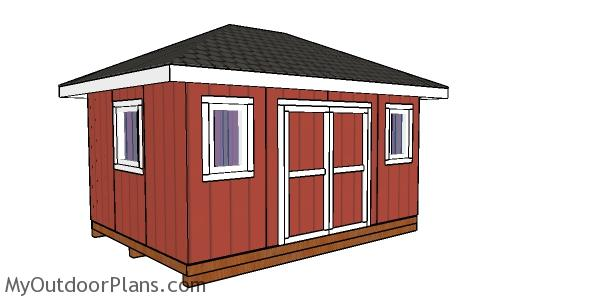 12x16 Shed with Hip Roof Plans