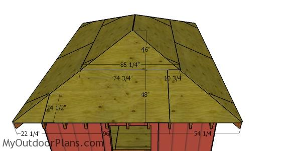 12x16 Shed with Hip Roof - Side Sheets