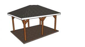 12×16 Hip Roof Pavilion Plans