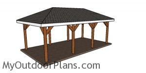12x24 Carport with Hip Roof Plans