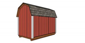 6x10 Gambrel Shed Plans - Back view