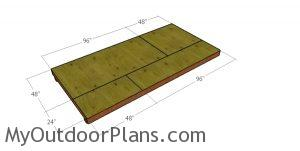6x12 Gambrel Shed Floor