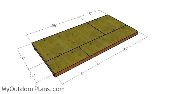 6x12 Gambrel Shed Floor