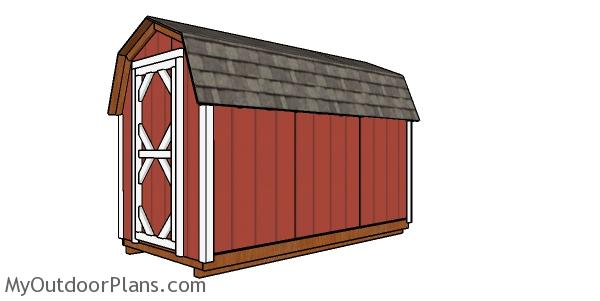 6x12 Gambrel Shed Plans