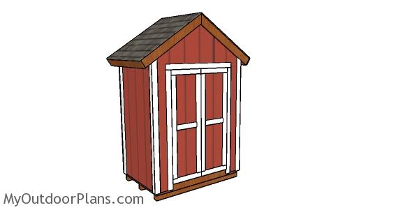 6x4 Gable Shed Plans