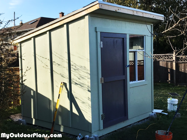 8x8-Lean-to-Shed---DIY-Project