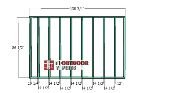 Back-wall-frame-10x24-shed