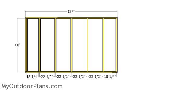 Side wall frame - 4x12 shed diy