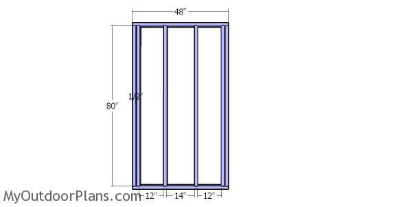 Back wall frame - 4x12 shed