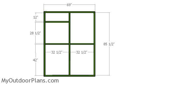 Back wall frame - 6x8 catio