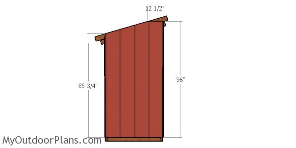 Back wall siding sheet - 4x12 lean to shed