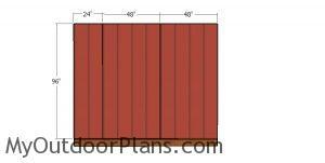 Back wall siding sheets - 10x10 hip shed