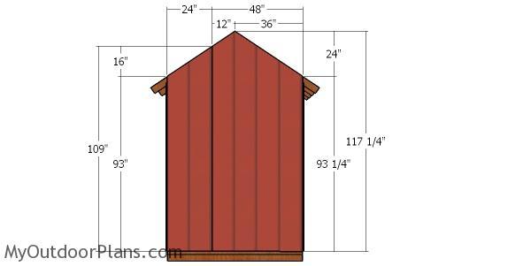 Back wall siding sheets -6x4 shed