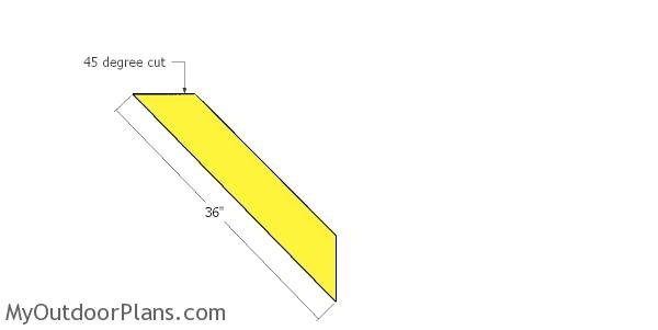 Braces for carport with hip roof