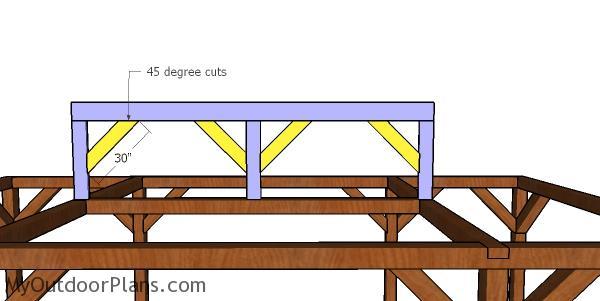 Braces for the carport ridge beam