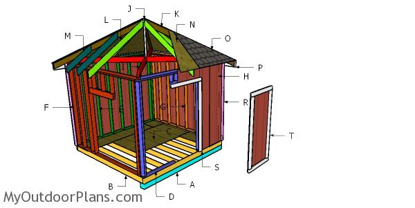Building a 10x10 hip roof shed