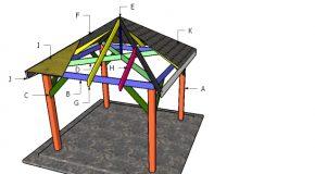 10×10 Gazebo Hip Roof Plans