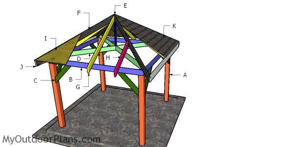 10x10 Gazebo Hip Roof Plans Myoutdoorplans Free Woodworking Plans And Projects Diy Shed Wooden Playhouse Pergola Bbq