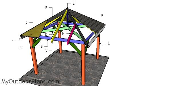 10x10 Gazebo Hip Roof Plans