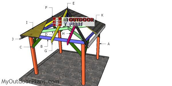 Building-a-10x10-square-gazebo