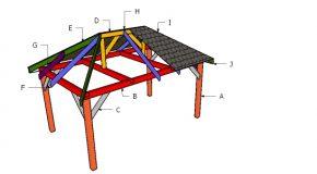 10×16 Gazebo Hip Roof Plans