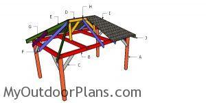 Building a 10x16 hip roof gazebo