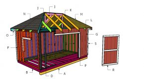 10×16 Shed with Hip Roof Plans