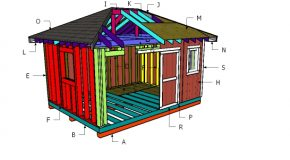 12×16 Hip Roof Shed Construction