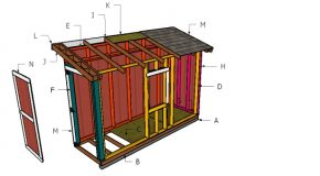 4×12 Lean to Shed Roof Plans