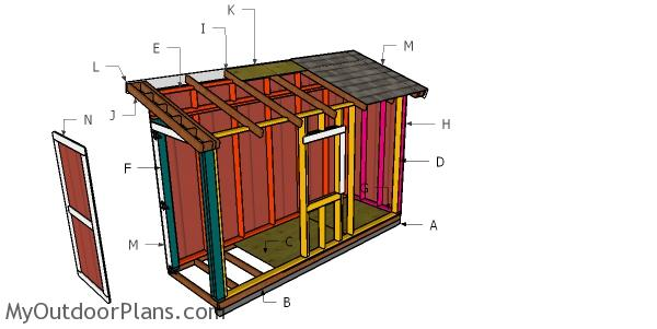 4x12 Lean to Shed Roof Plans