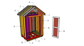 6×4 Shed Roof Plans