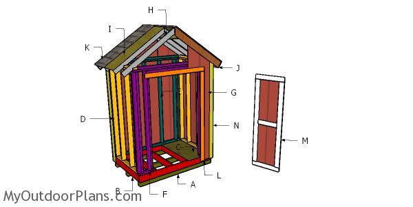 6x4 Shed Roof Plans