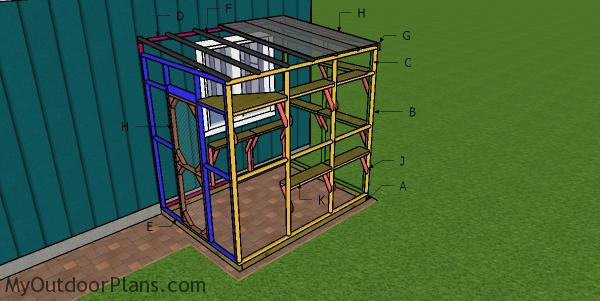 6x8 Catio Roof and Shelves Plans