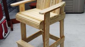 Bar Height Adirondack Chair
