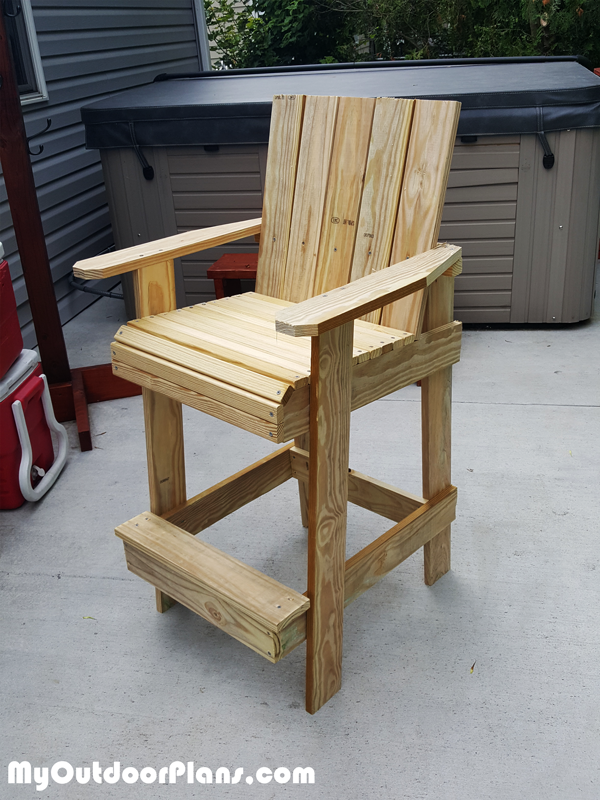 Building-a-bar-height-adirondack-chair