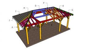 12×24 Carport Hip Roof Plans