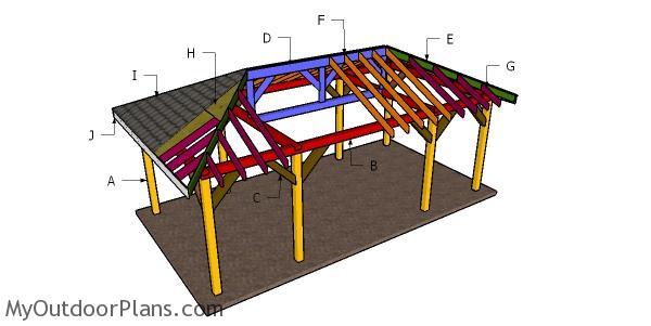 12x24 Carport Hip Roof Plans