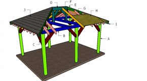12×16 Hip Roof for Pavilion Plans