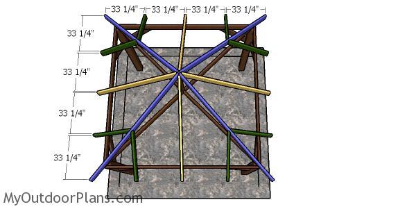 Building a square gazebo hip roof