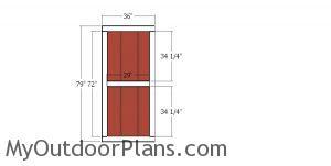 Building the door - 4x12 shed