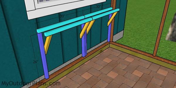 Building the shelves frame