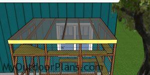 Catio roof trim