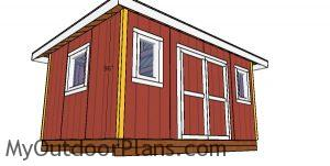 Corner trims - 12x16 storage shed