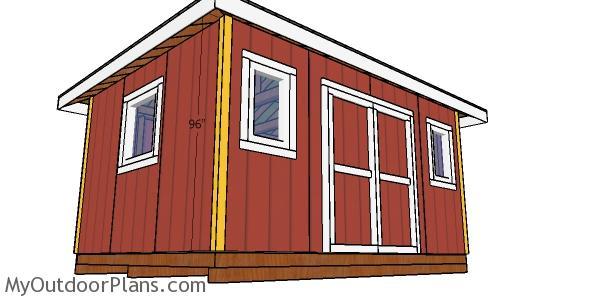 Corner trims - 12x16 storage shed