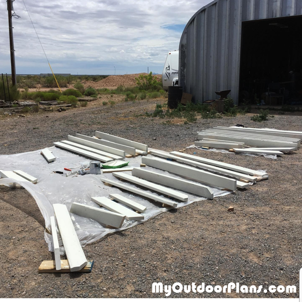 Cutting-the-components-for-the-picnic-table
