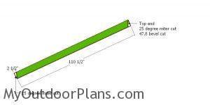 Cutting the hip rafters - 10x16 gazebo
