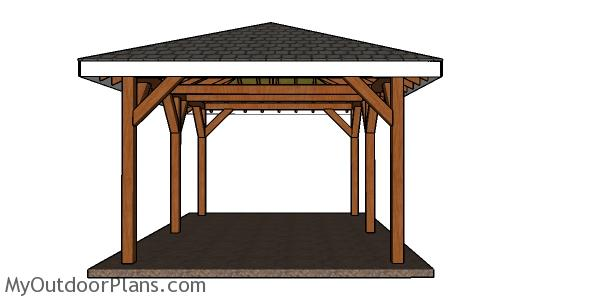 DIY Hip Roof Pavilion - Free Step by Step Plans